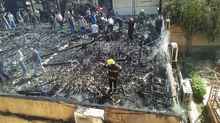 حريق في كنيسة مار جرجس- المنصورة