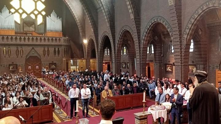 بابا الأقباط دشّن كنيسة في بلجيكا أيضًا