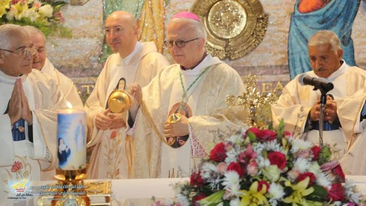 دير بيت الزّيارة- الأردنّ يصلّي في عيد الأمّ ماري ألفونسين