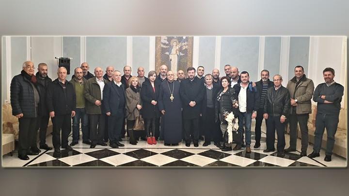 درويش يبارك المجلس الرّعويّ الجديد في كنيسة مار يوسف- حوش الأمراء