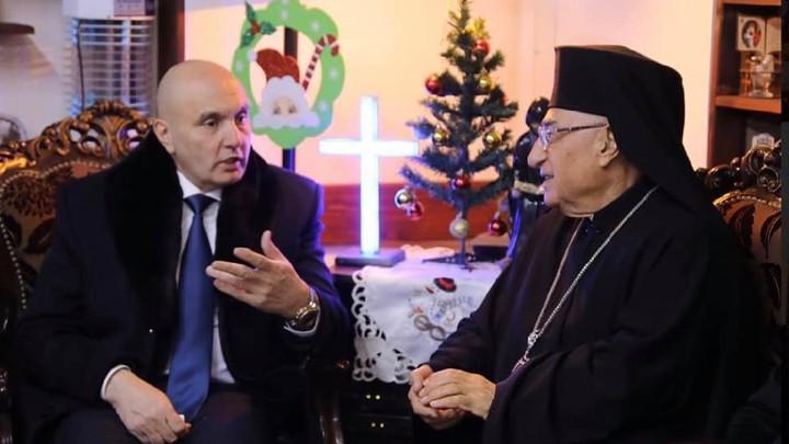 البطريرك العبسيّ يستقبل رئيس الهلال الأحمر السّوريّ