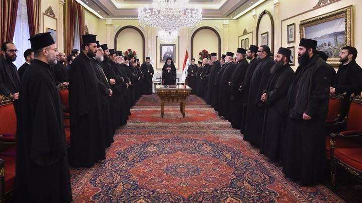 يوحنّا العاشر يلتقي إكليروس دمشق
