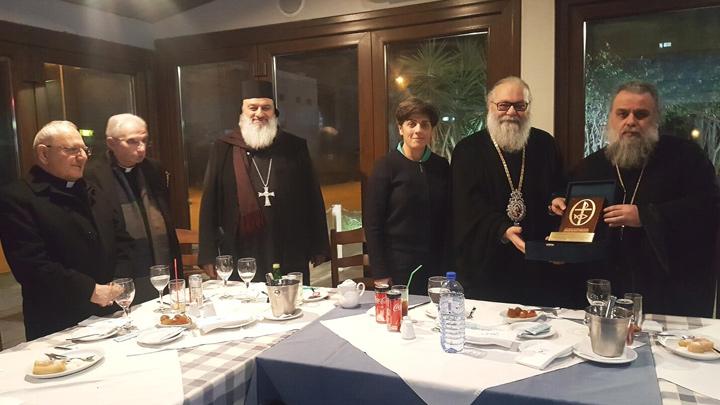 تكريم متبادل بين متروبوليت لارنكا ومجلس كنائس الشّرق الأوسط