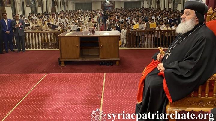 أفرام الثّاني يترأّس صلاة المساء احتفالًا بتذكار انتقال القدّيس البطريرك مار إغناطيوس إلياس الثّالث