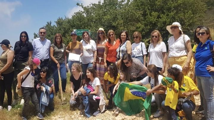 وفد مجموعة الصداقة البرازيلية زار محمية إهدن وتبنى أرزة