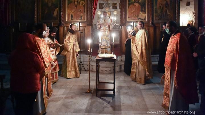 يوحنّا العاشر ترأّس سهرانيّة في دمشق في عيد الشّهيدة بربارة ويوحنّا الدّمشقيّ