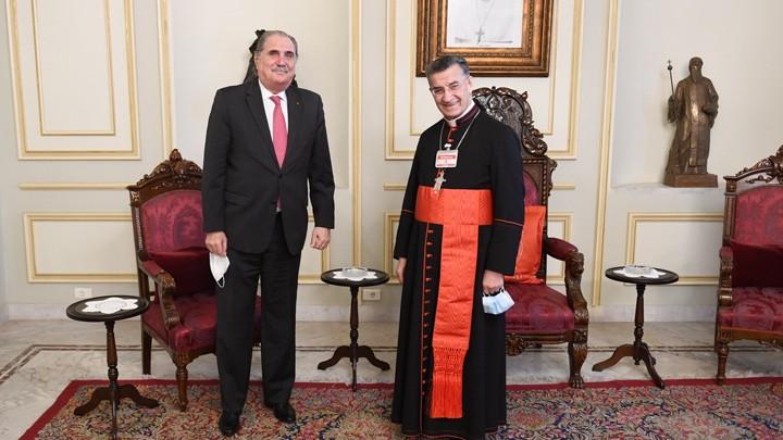 البطريرك الرّاعي استقبل جريصاتي والسّفير المصريّ
